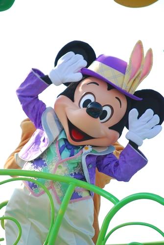 うさ耳をつけた、イースターのミッキーマウス