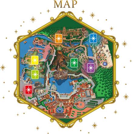 ディズニーシークリスタルポイントの地図