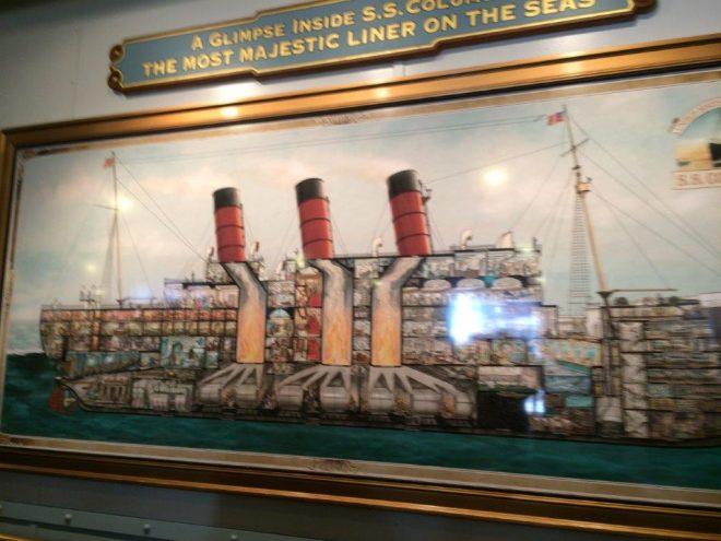 タートルトークの船の絵