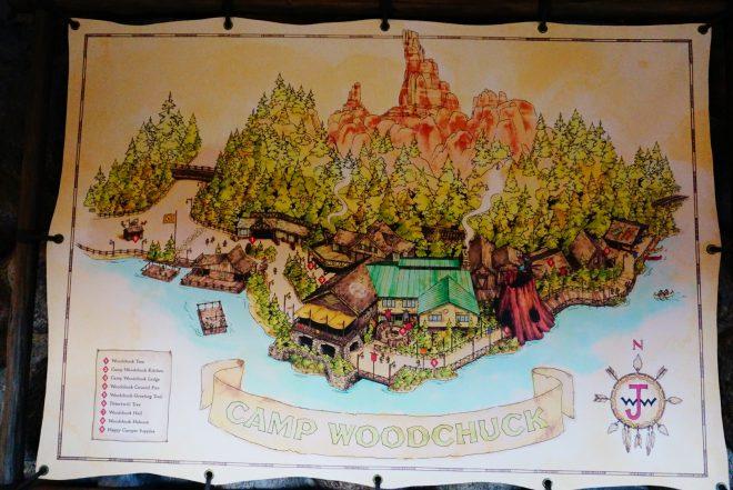 ランド・キャンプウッドチャックの地図